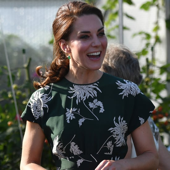 Kate Middleton Green Rochas Floral Dress