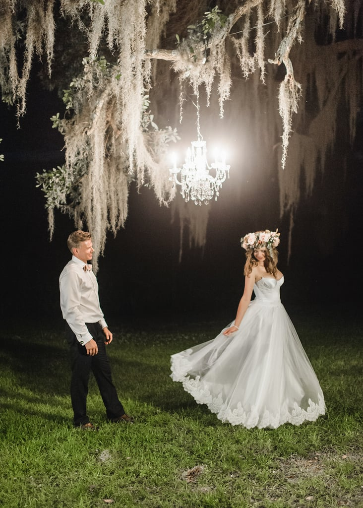 Polinas and Robertas chose to tie the knot in South Carolina. The couple invited just 10 guests all from different countries; they also incorporated their Russian and Ukrainian traditions into their big day.
