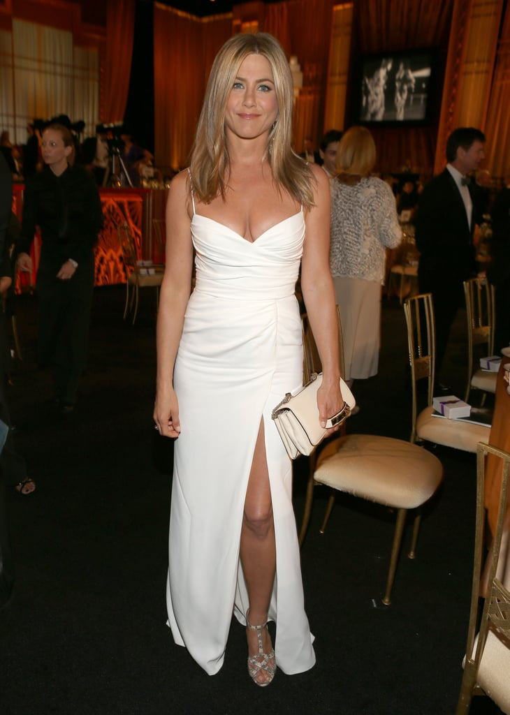Jennifer Aniston wore Burberry.