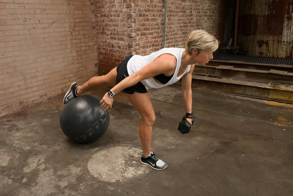 2b. One-Legged Deadlifts With Stability Ball
