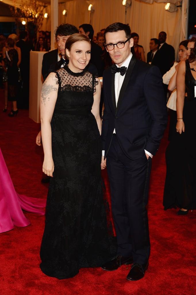 Lena Dunham and Erdem Moralioglu at the Met Gala 2013.