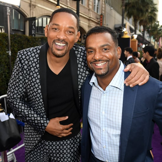 Will Smith and Alfonso Ribeiro at the Aladdin Premiere 2019