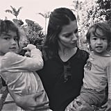 Adriana Lima With Valentina and Sienna