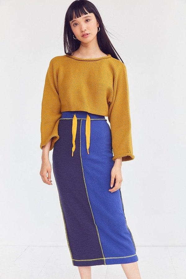 BDG Alex Thermal Patchwork Midi Skirt