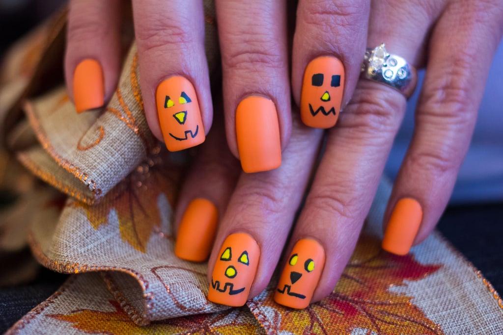 18 Jack-o'-Lantern Nail-Art Designs For Halloween