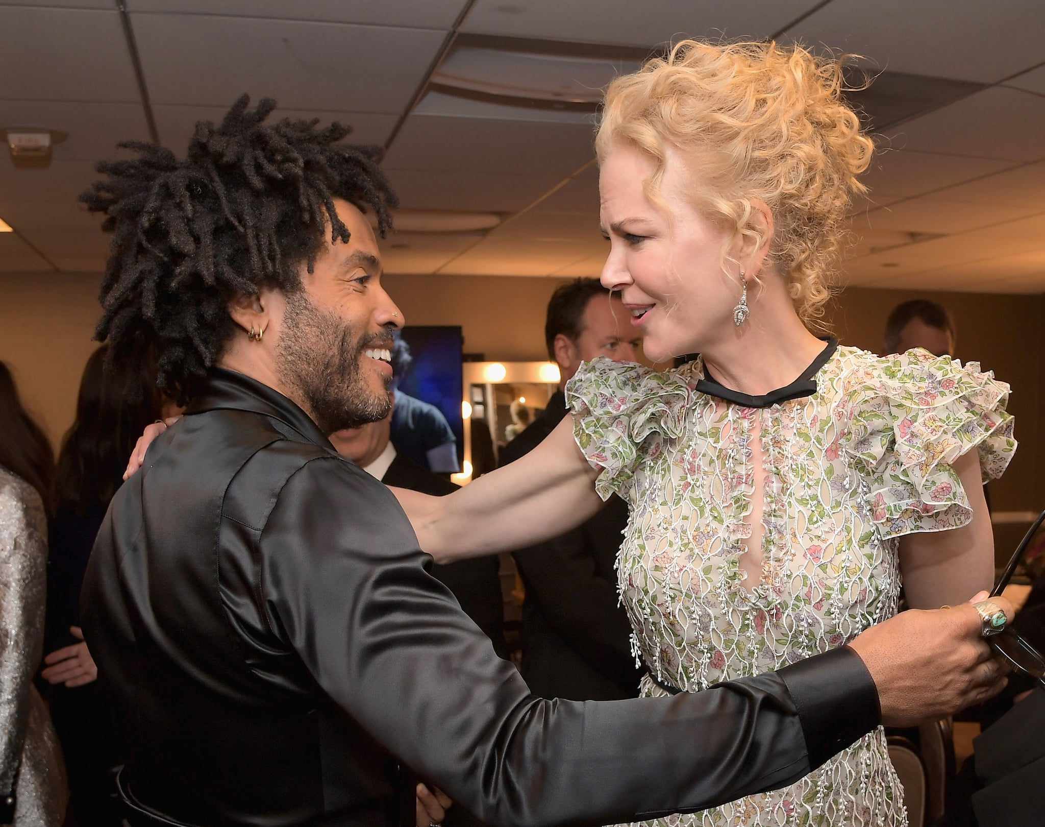 WEST HOLLYWOOD, CA - NOVEMBER 06:  Recording artist Lenny Kravitz (L) and actress Nicole Kidman  pose in the green room during the Hollywood Film Awards on November 6, 2016 in West Hollywood, California.  (Photo by Charley Gallay/Getty Images for dcp)