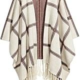Jacquard-Knit Poncho ($50)