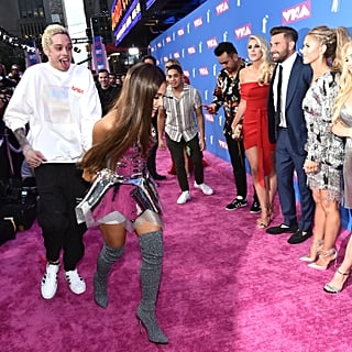 Why Did Ariana Grande and Pete Davidson Run Off VMAs Carpet?