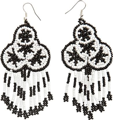 A boho, tribal-inspired pair to dress up our everyday look.  Swell Jen's Pirate Booty Dream Catcher Earrings ($15)