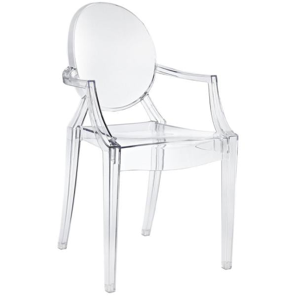 Modway Casper Clear Dining Arm Chair