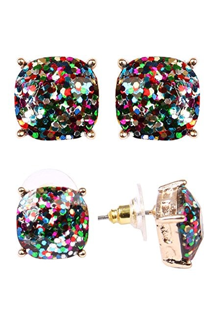 MYS Collection Glitter Stud Earrings
