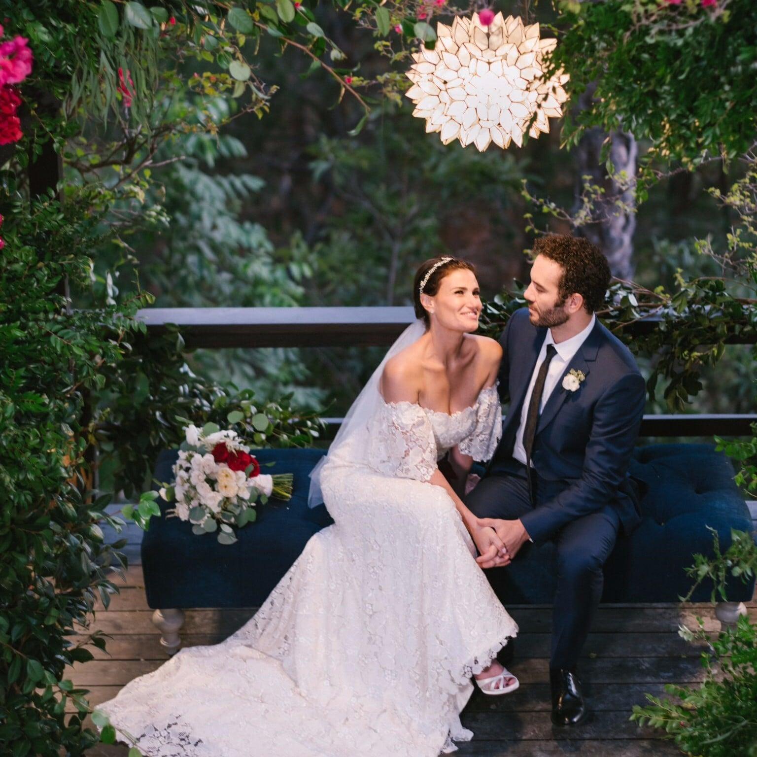 Idina menzels carolina herrera wedding dress popsugar fashion junglespirit Choice Image