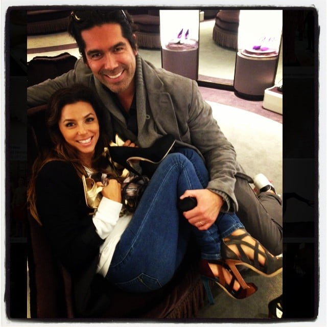 Eva Longoria made a surprise stop at her friend Brian Atwood's NYC store to shop for shoes. Source: Instagram user brian_atwood