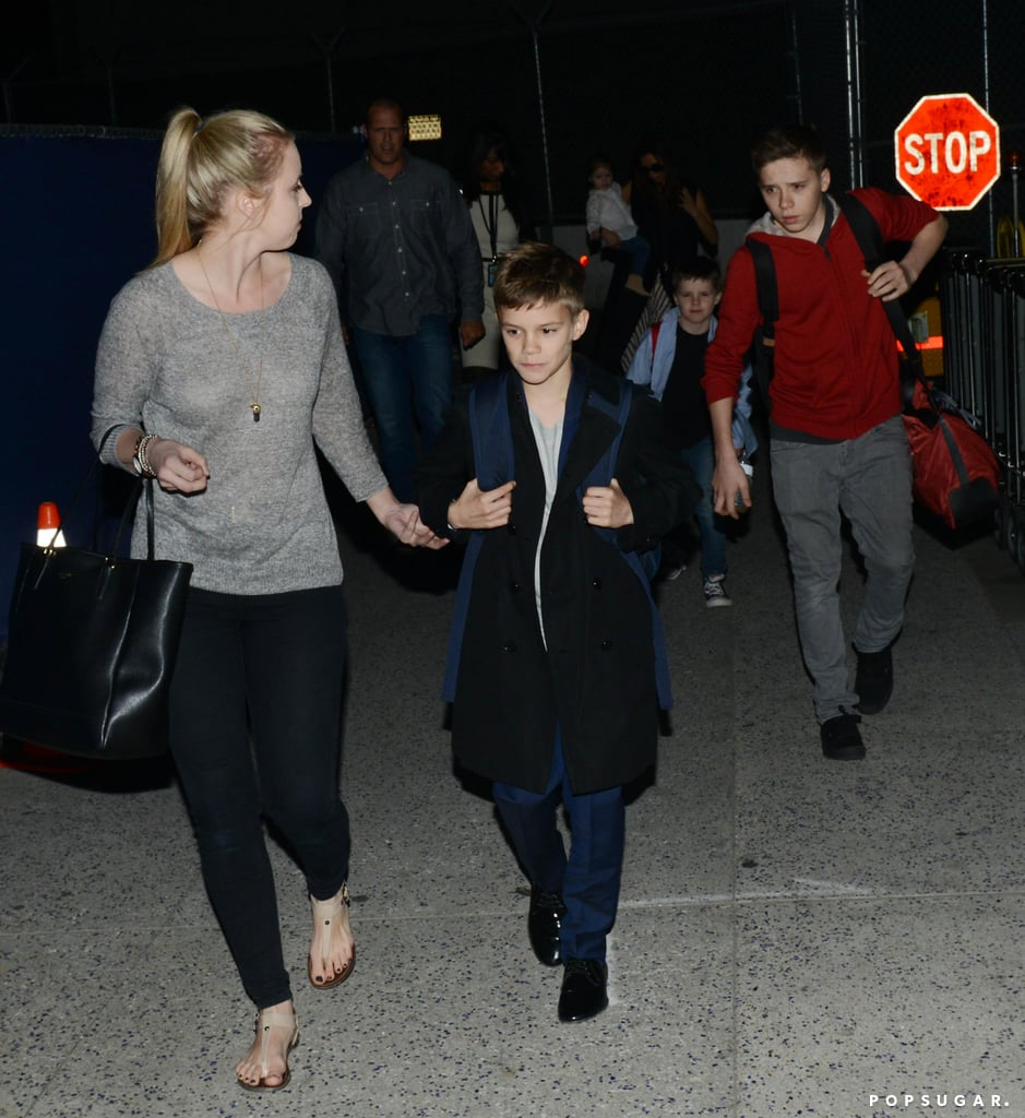 Romeo, Brooklyn, and Cruz arrived with their mom in LA.