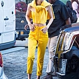 Gigi's worn every monochrome look in the rainbow, but she was literally a ray of sunshine in this yellow ensemble.