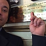 Jimmy Fallon was rather proud of getting his name on the wall at Boston's Union Oyster House. Source: Instagram user jimmyfallon