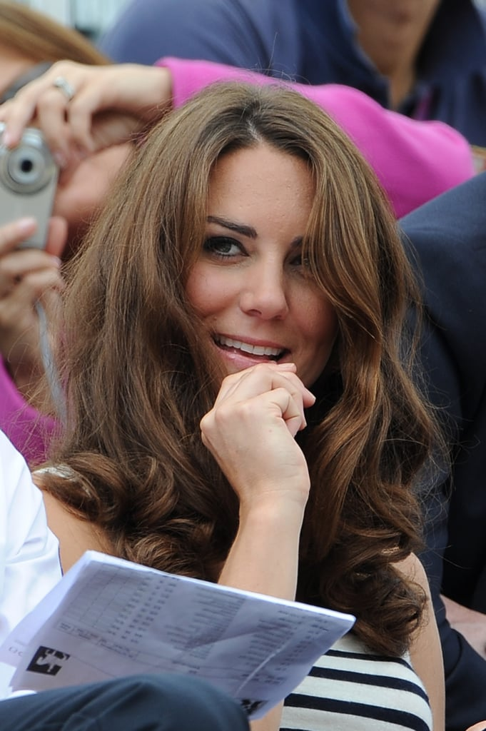 Kate Middleton watched on.
