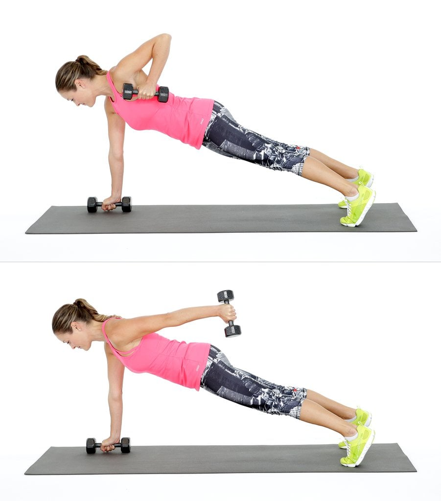 How To Do A Plank With Triceps Kickback Popsugar Fitness