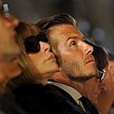 David Beckham went to NYFW.