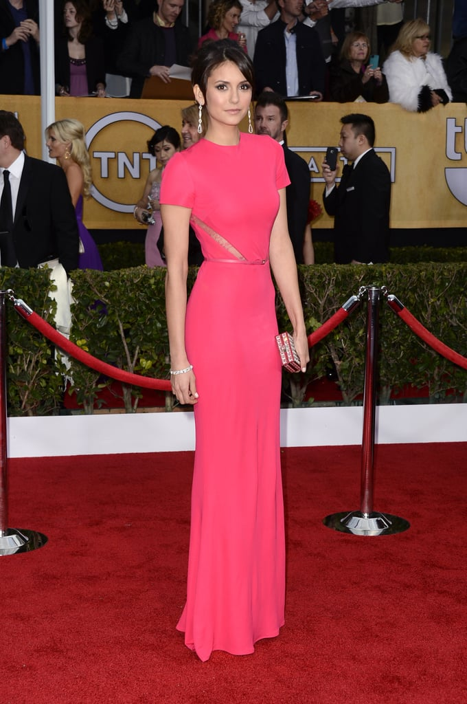 Nina Dobrev in Elie Saab Pictures at 2013 SAG Awards