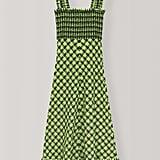 Ganni Seersucker Check Maxi Dress ($270).
