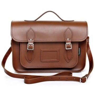 Zatchels Classic Chestnut Leather Satchel