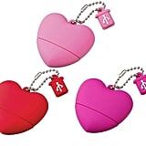 How sweet! This 2 GB heart-shaped memory stick ($35, originally $43) is practical and pretty.