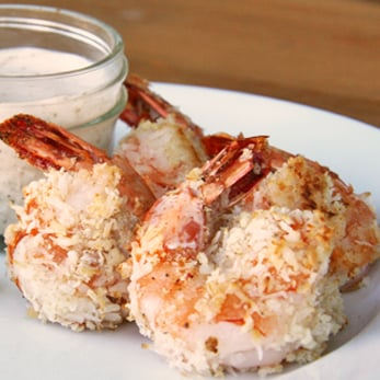Entrée and Appetisers Recipe | Baked Coconut Prawns