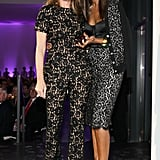 Aerin Lauder and Iman worked their black lace Michael Kors designs while attending the God's Love We Deliver 2013 Golden Heart Awards.