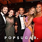 Josh Groban, Kat Dennings, John Legend, Chrissy Teigen, and Queen Latifah