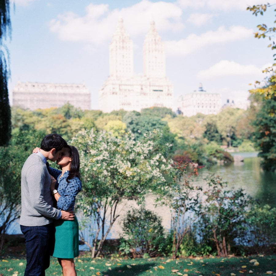 Kiss in a City Park