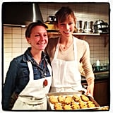 We baked some holiday cookies with Karlie Kloss and FEED Project.