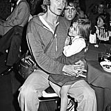 Jon Voight held Angelina Jolie at a party for Kiss at Fiorucci in LA back in 1978.