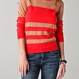 This striking poppy red takes stripes to a chicer place for Spring.  Marc By Marc Jacobs Chianti Sweater ($248)