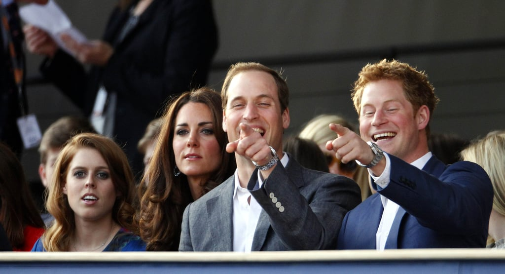 Princess Beatrice, Catherine Duchess of Cambridge, Prince William and Prince Harry