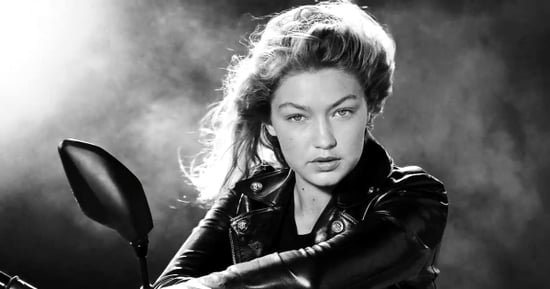 Gigi Hadid Goes on a Kissing — and Ass-Kicking! — Spree in Her New Versace Commercial