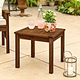 Classic Dark Brown Acacia Wood Patio Side Table