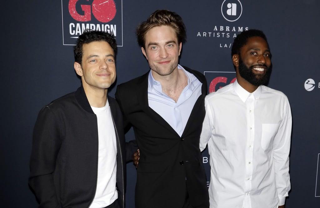 Rami Malek, Robert Pattinson, and John David Washington
