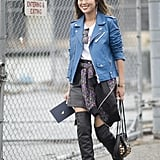 If You Have a Bomber Jacket, Tie It Around Your Waist and Add a Leather Jacket