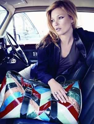 Photos of Kate Moss for Longchamp Autumn 2010 Ad Campaign
