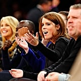 Princess Eugenie sat courtside for a New York Knicks game in December 2013.