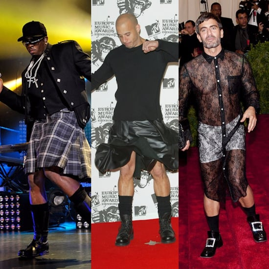 7 Celebrity Men Wearing Dresses, Skirts