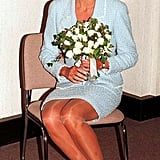 In an effort to raise money for lung disease research, the Princess of Wales was presented with the first rose to be named after her at the British Lung Foundation offices in April 1997.