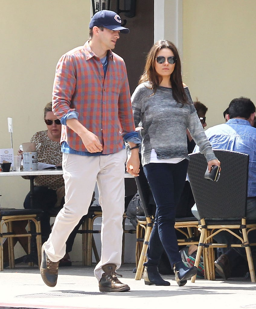 Mila Kunis Can't Hide Her Baby Bump at Lunch