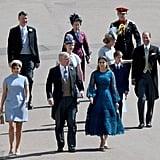 Princess Eugenie, Prince Andrew, Princess Beatrice and Princess Anne