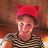 "Lena Dunham shared this photo with the caption, ""Keeping it casual in my casual new hat."" Source: Instagram user lenadunham"
