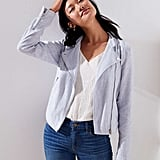 Loft Cotton Linen Moto Jacket