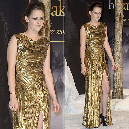 Kristen Stewart Goes For the Gold — and Shows Her Stems — in Berlin