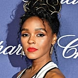 Janelle Monáe With Gold Wire in Her Hair