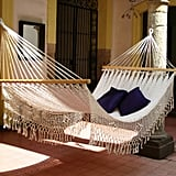 Novica Hand Crocheted White Cotton Maya Daydream Hammock ($157)